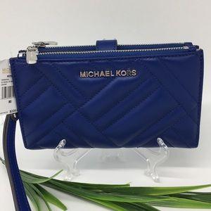 MICHAEL KORS PEYTON Large double Zip Wristlet